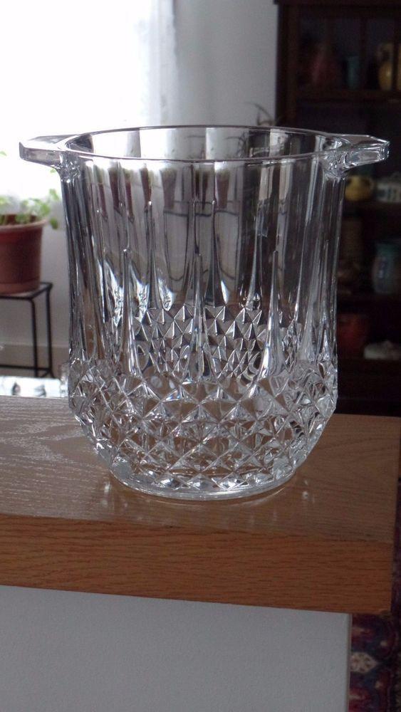 Cristal Darques France.Beautiful Cristal D Arques France Longchamp Crystal Ice Bucket Vase