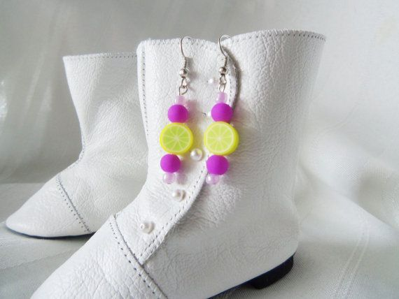 Bright Colorful  Earrings Limeade  297 by SassyDefined on Etsy, $10.00