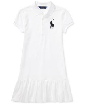 Ralph Lauren Polo Dress, Big Girls - Dresses - Kids \u0026 Baby - Macy\u0027s