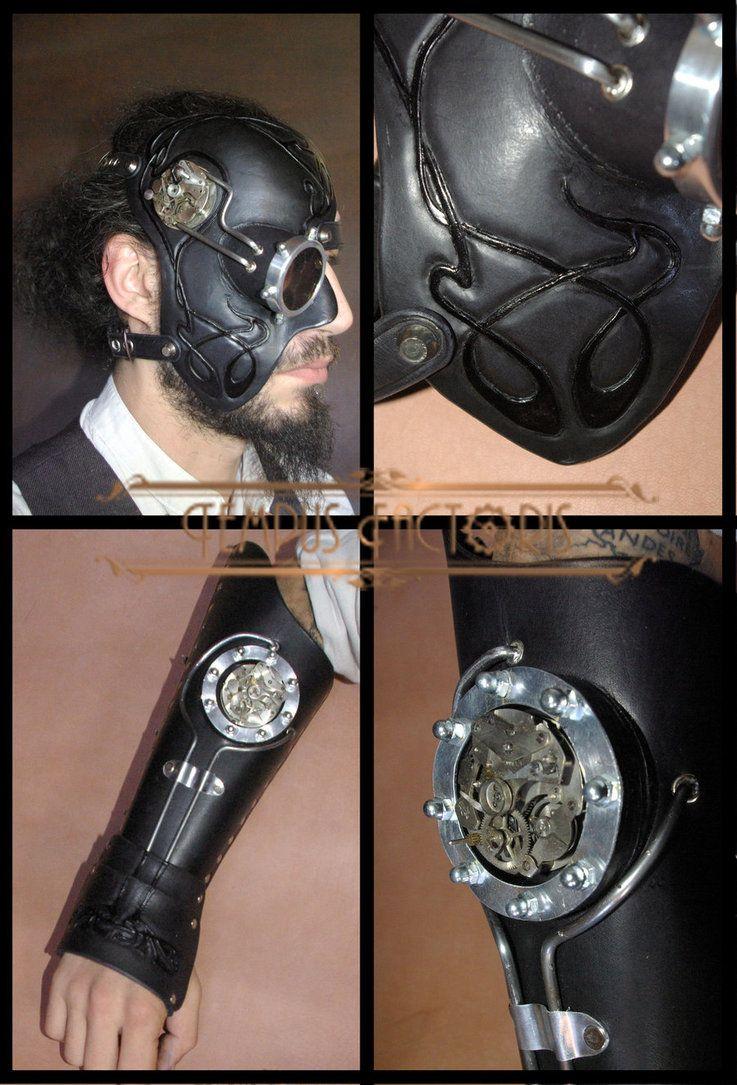 Mask and Vambrace by Tempus-factoris on DeviantArt