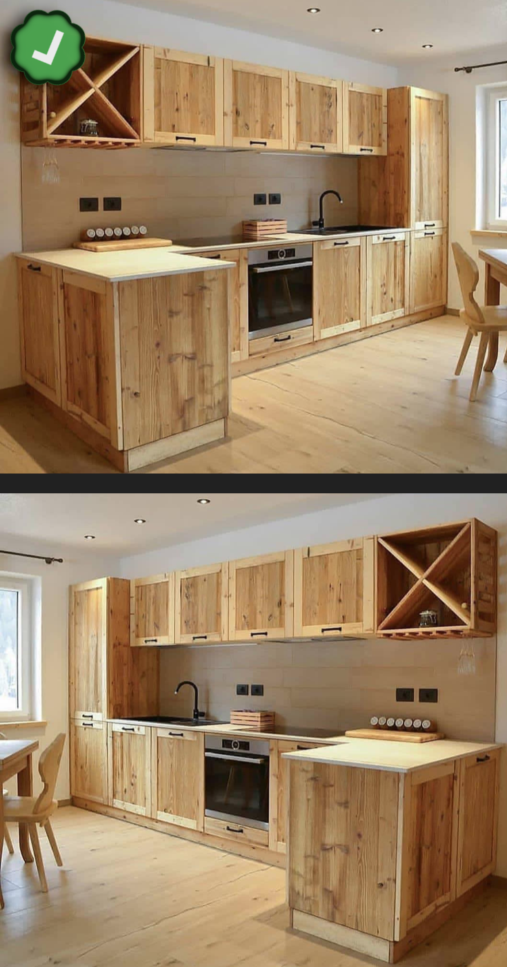Diy Projects For Home Yard In 2020 Pallet Kitchen Cabinets