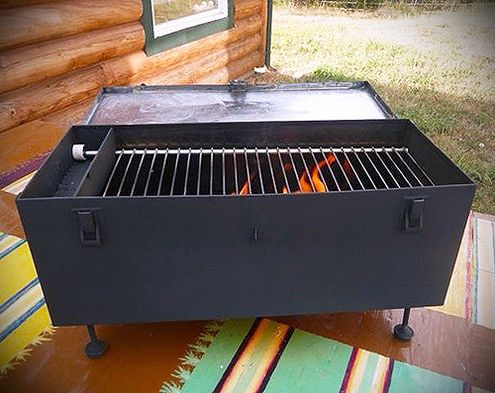 How To Make A Diy Portable Grill From A Recycled Toolbox Diy Bbq Portable Grill Grilling