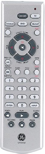 GE-RM24977 Universal Remote-Controls 4 Devices(Silver) by