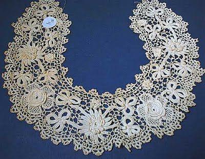 Irish Crochet collar   good stuff   Pinterest   Irisch ...