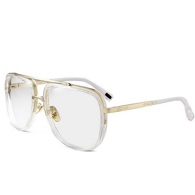 3244bd58b03a 2017 Hot Vintage Retro Sunglasses Men Women Metal Big Frame Glasses Brand  Luxury Street