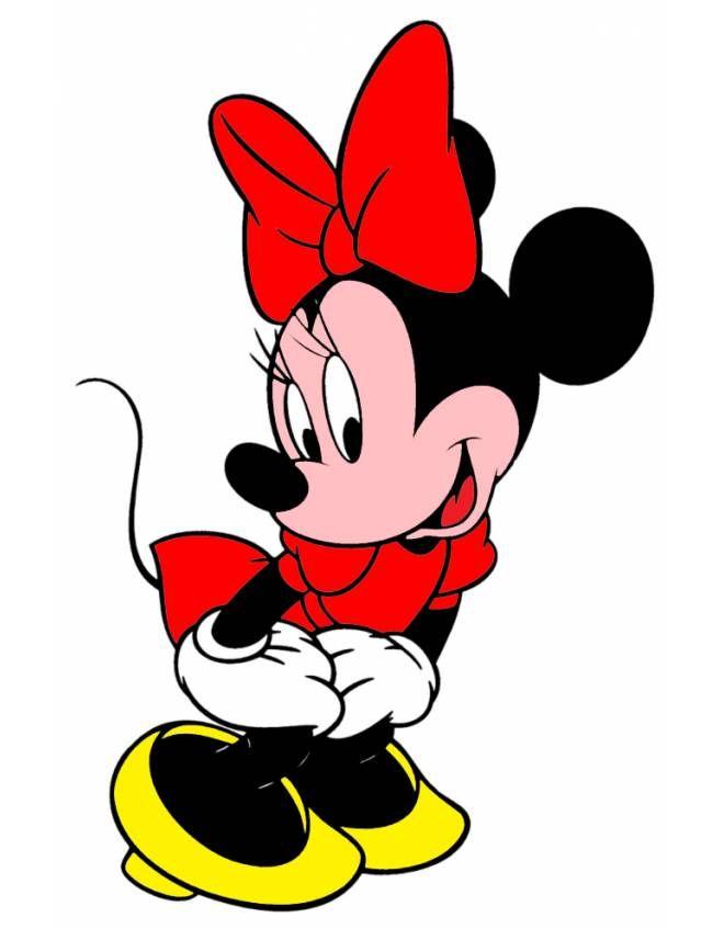 Disegno Di Minnie Disney A Colori Per Bambini Disegni Disney