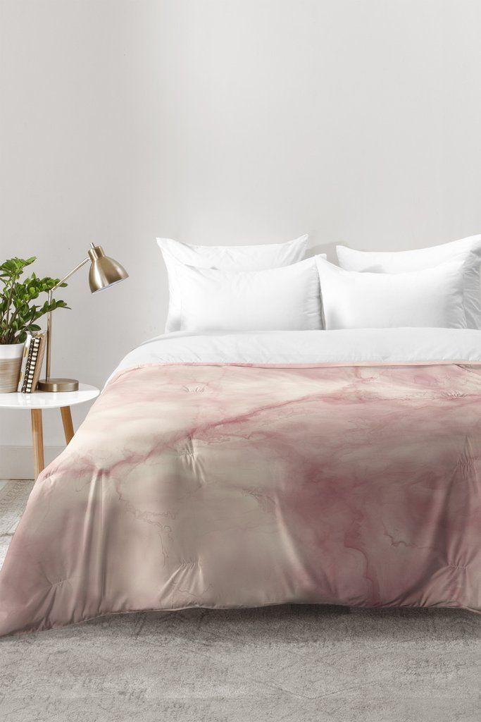Chelsea Victoria Rose Gold Marble Comforter Mi Casa