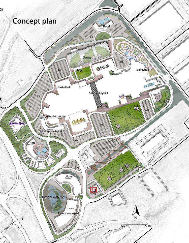 Cvc Agrees To Help Pay For Youth Sports Complex In Failing Hazelwood Outlet Mall Sports Complex Sports Mall Design