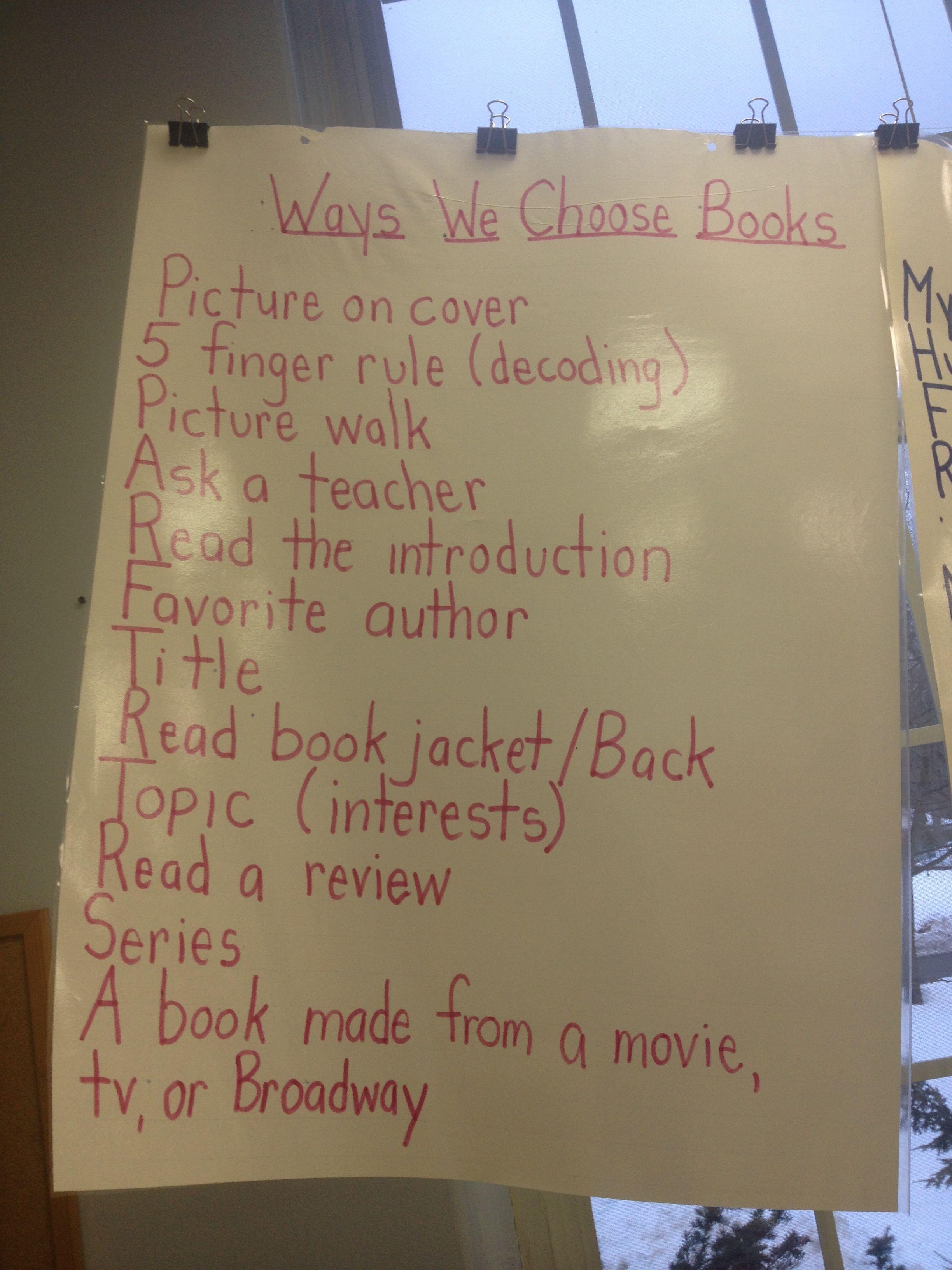 Ways To Choose Books