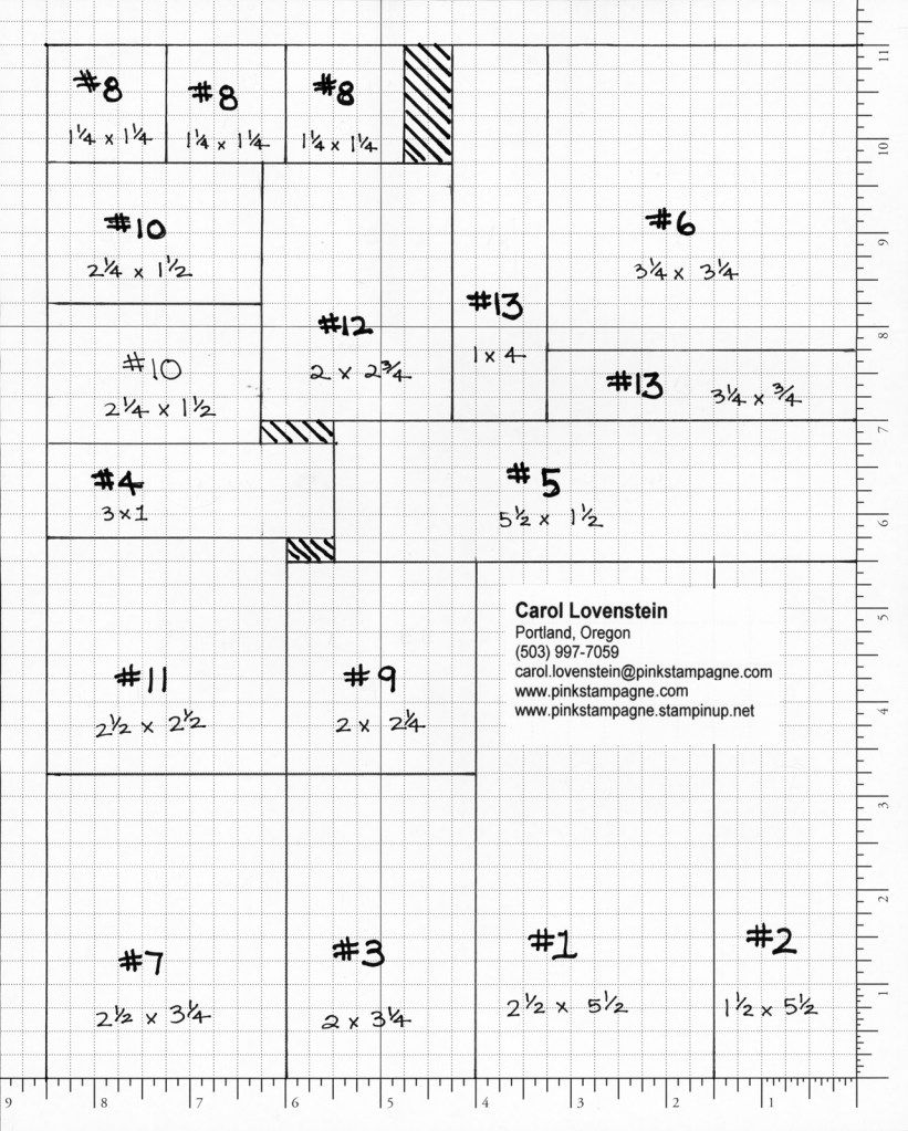 13 In One Derful Cutting Layout Measurements Pinterest