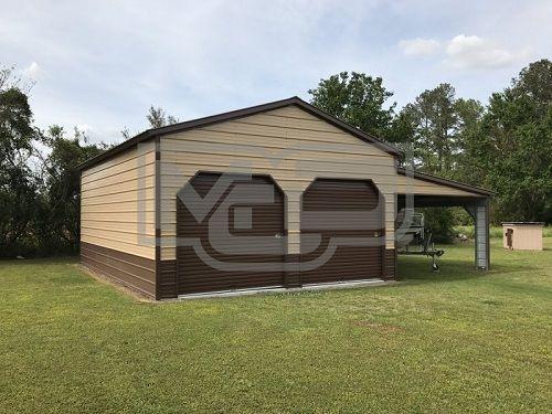Best Enclosed Steel Garage Vertical Roof 24W X 31L X 12H 400 x 300