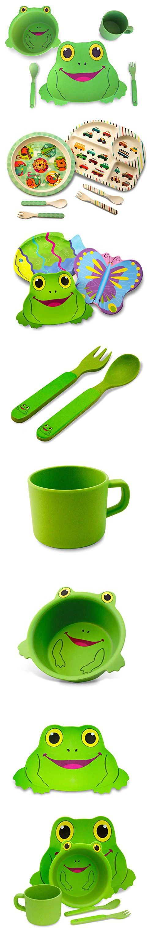 Culina Kids Bamboo 5-piece Dinnerware Set - Frog  sc 1 st  Pinterest & Culina Kids Bamboo 5-piece Dinnerware Set - Frog | Dinnerware and ...