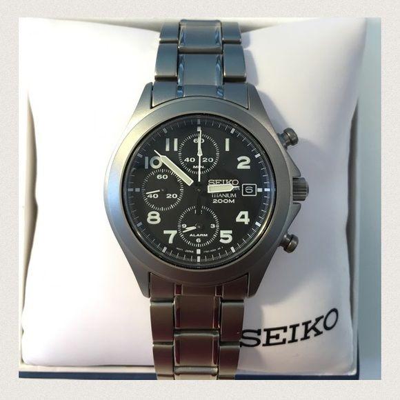 Seiko Analog Quartz Watch Alarm Chronograph Timer Seiko Analog