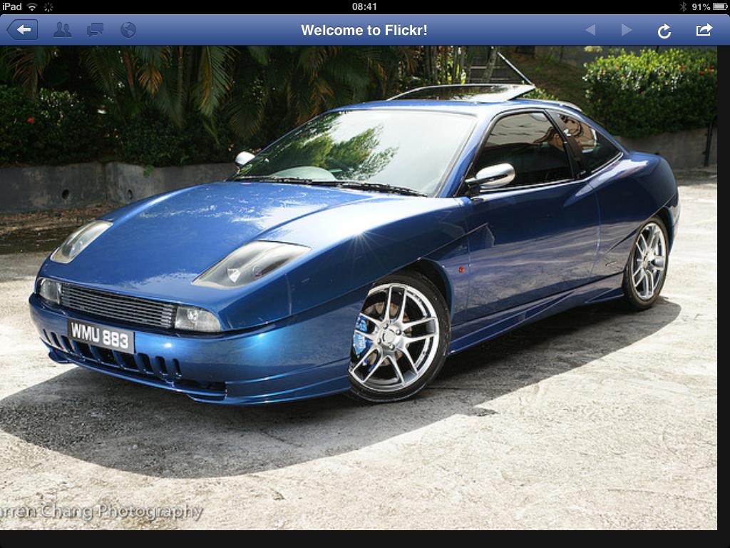 Fiat Coupe O Azul Mais Bonito Que Ja Vi Marcelo Acacio Carros Azul