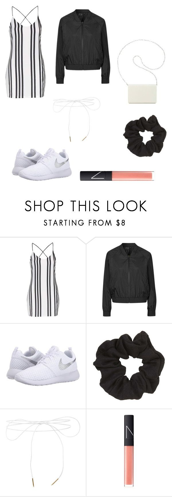 """Omg I'm just exhausted"" by her-aesthetic on Polyvore featuring Topshop, NIKE, Lilou, NARS Cosmetics and Nine West"