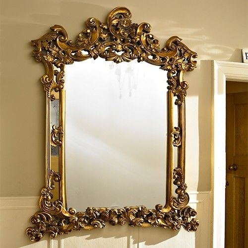 gold+framed+mirrors+wall+grouping | Extra Large Gold Ornate Wall ...
