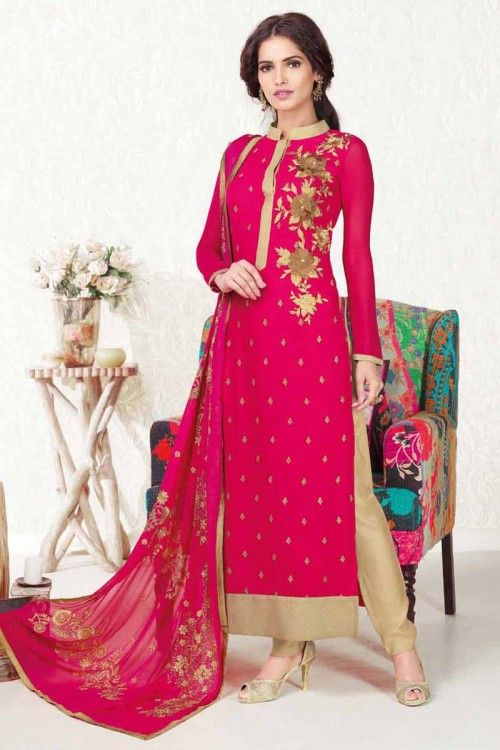bb13322e52 Latest designer churidar suit collection designed with heavy embroider work  in georgette suit and fancy dupatta.