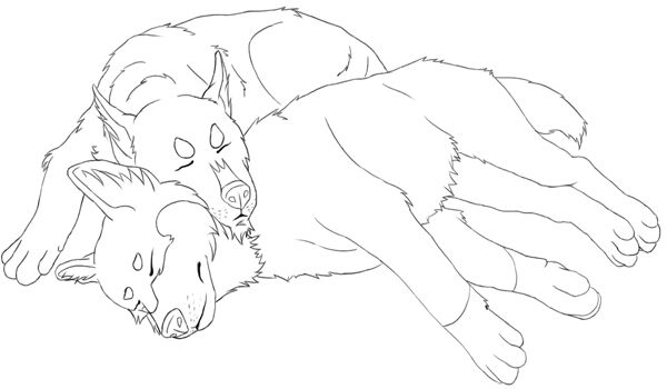 Coloring Pages Of Husky Point Free Printable Two Huskies Sleeping Picture To