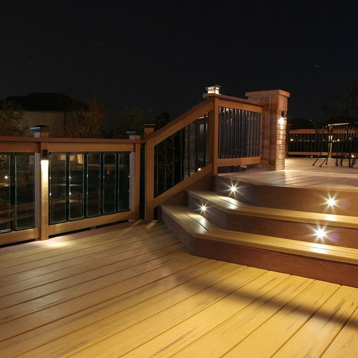Outdoor Led Recessed Stair Light Kit 8 Pack Led Deck Lighting Outdoor Lighting Stair Lighting