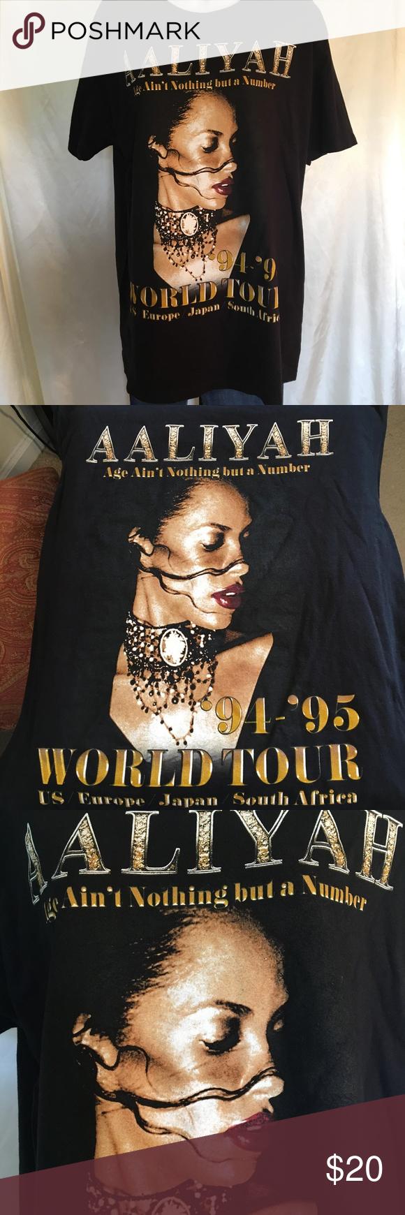 4f6a2bbd5c6b9 Aaliyah 94  - 95  World Tour Reproduction Tee Aaliyah 94  - 95 ...