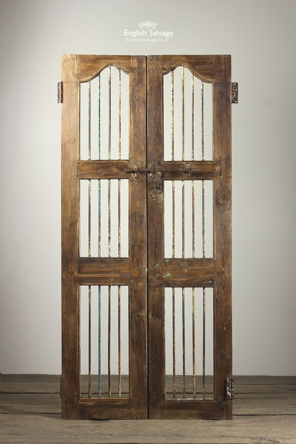 Salvaged Iron And Wood Jali Doors Reclaimed Architectural