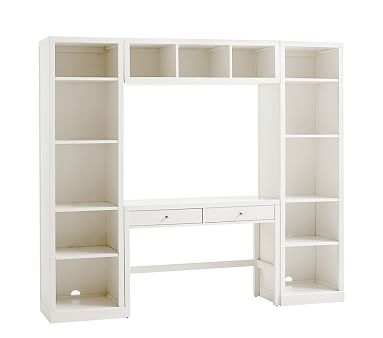 Preston Desk Storage Wall System Simply White Standard Ups Delivery