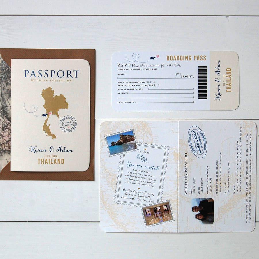 All About Travel Passport Wedding Invitation And RSVP   Passport ...