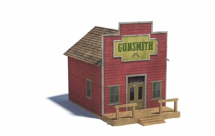 Railroad Model Buildings   Wild West Scale Models   Easy To Make