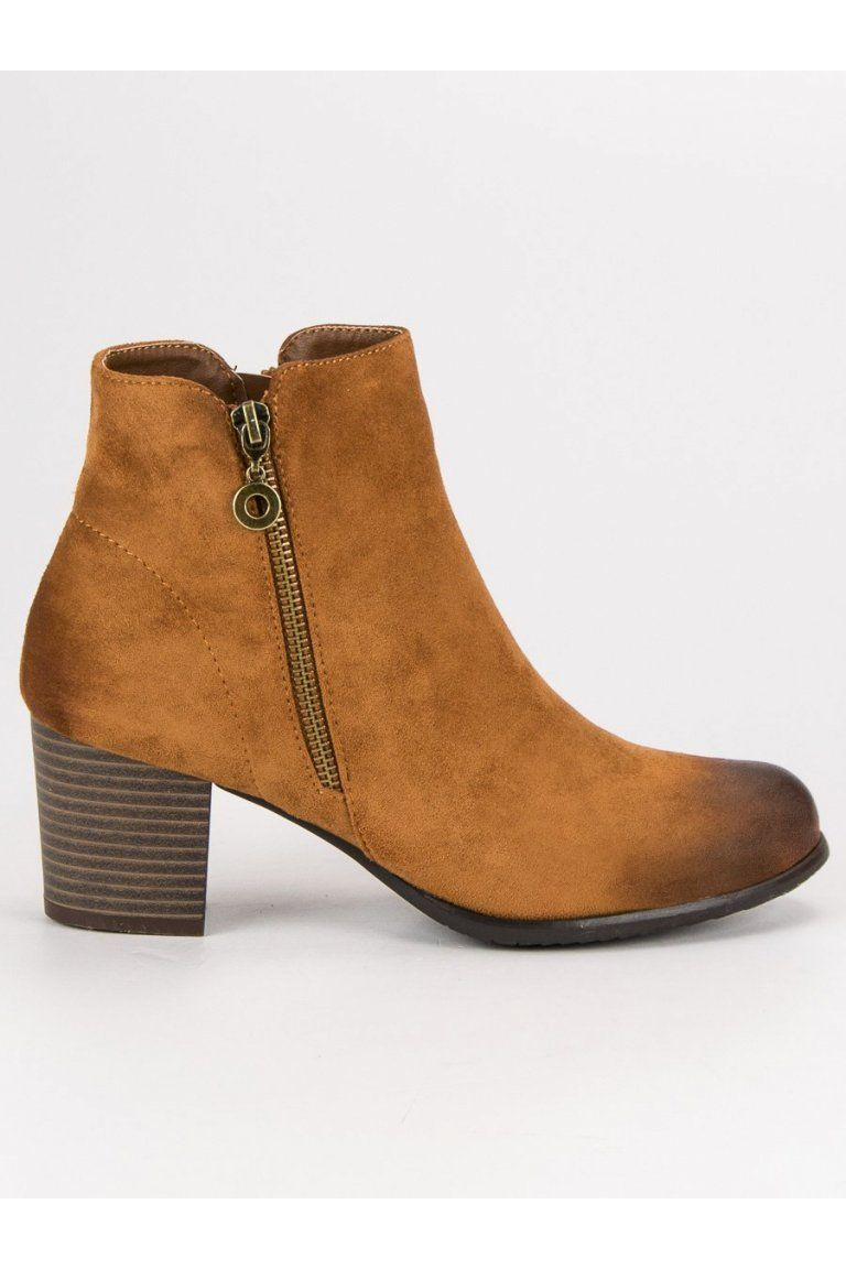 3209c5ac4ab9d Béžové topánky semišové členkové čižmy VINCEZA | Členkové topánky ...