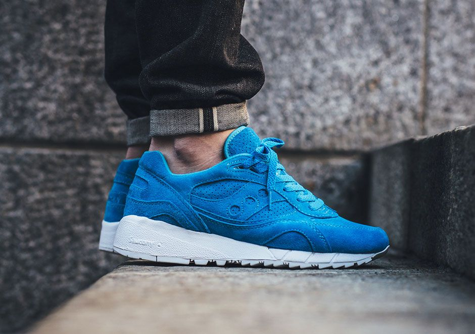 Saucony Shadow 6000  Light Blue Mens Sneakers Suede