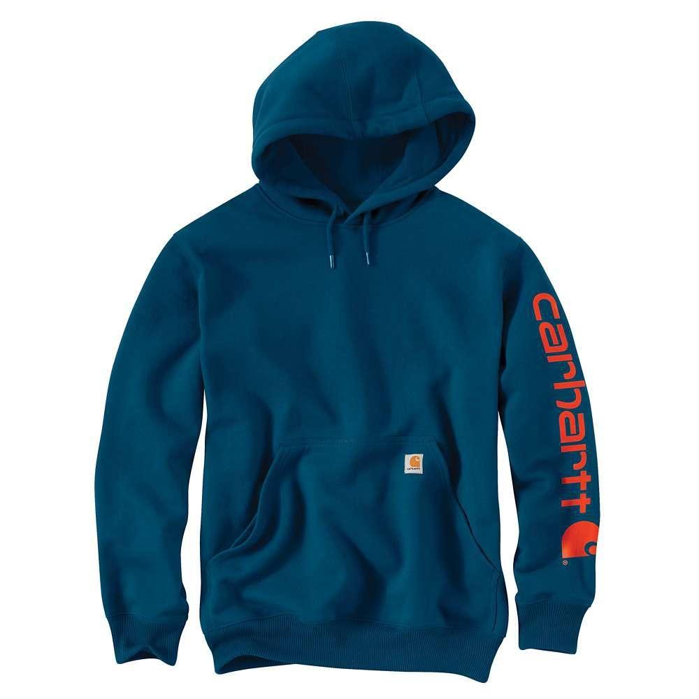Men S Regular Medium Superior Blue Cotton Polyester Sweats Sweatshirts Carhartt Sweatshirts Carhartt Mens [ 1000 x 1000 Pixel ]