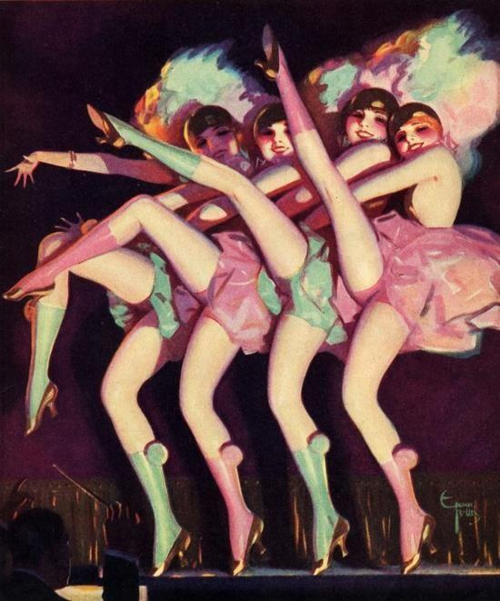 Cabaret dancers by Enoch Bolles