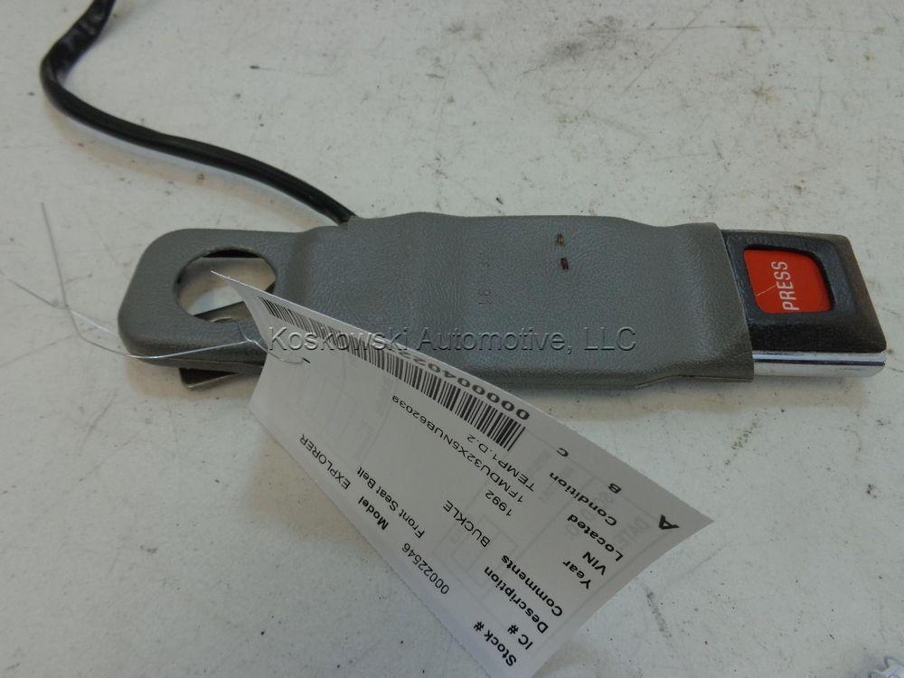 Ford Explorer Left Front Seat Belt Buckle Latch 92 91 93 94 Driver Side Gray Seat Belt Buckle Seat Belt Latches