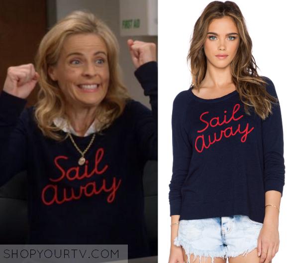 b92d82c3cb Lady Dynamite  Season 1 Maria s Sail Away Sweater