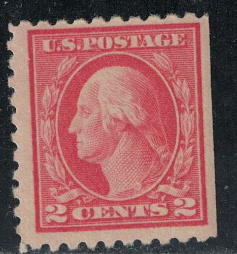 463 1916 17 2 Cent Carmine George Washington MLH In Stamps United States