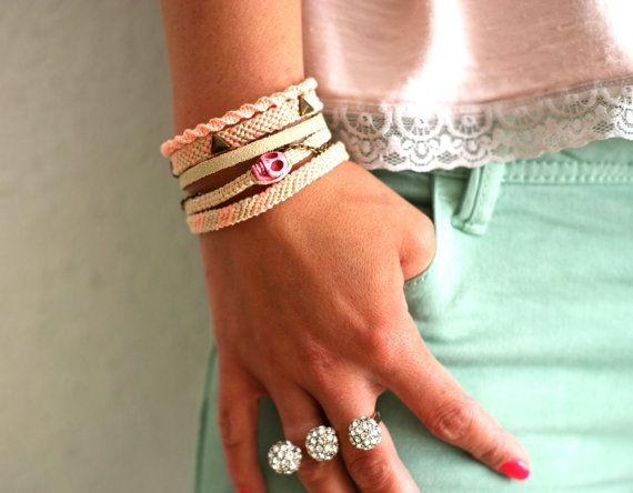 Pastel Multi Bracelet Friendship bracelet by makunaima on Etsy