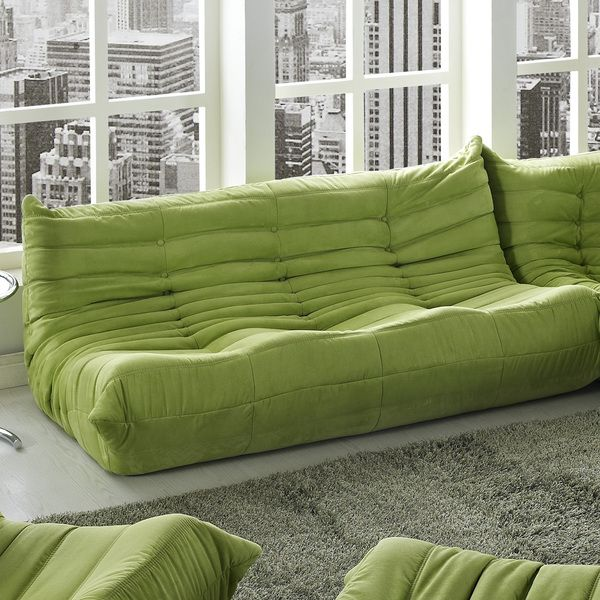 Waverunner Modular Green Sectional Sofa