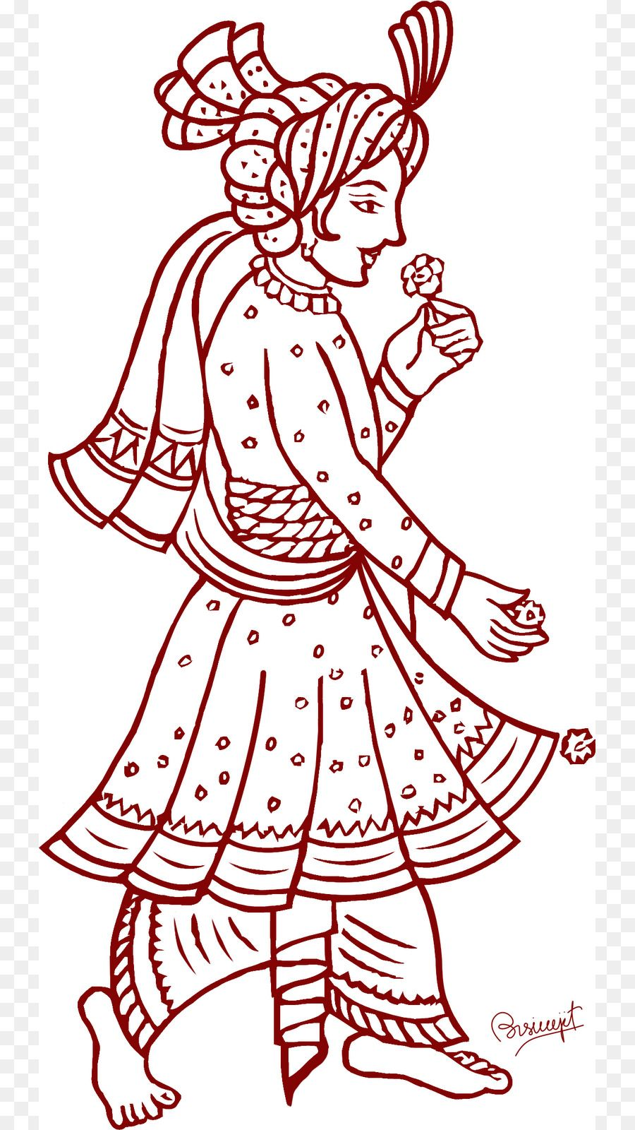 28+ Collection Of Indian Dulha Dulhan Fabric painting