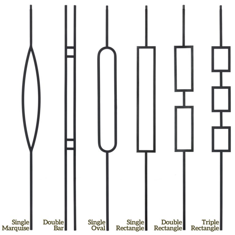 Wrought Iron Balusters: Metal Spindles & Iron Stair Railing