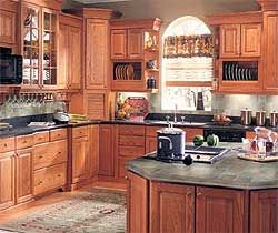 Honey Oak Kitchen Cabinets Here Is Another Kitchen Corner With A Large Tall Cabinet Mounted