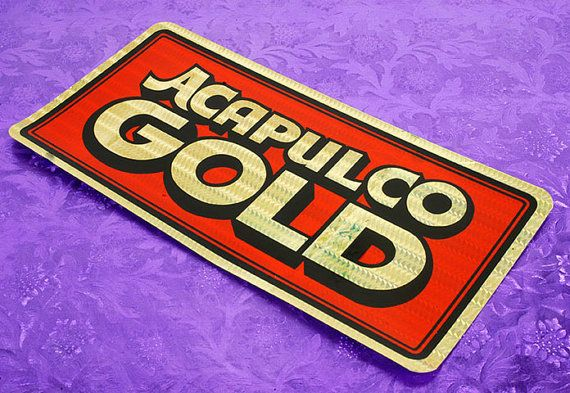Acapulco gold 70s new old stock bumper sticker i bought boxes of these crazy colorful stickers back in the mid 80s passed some out to friends