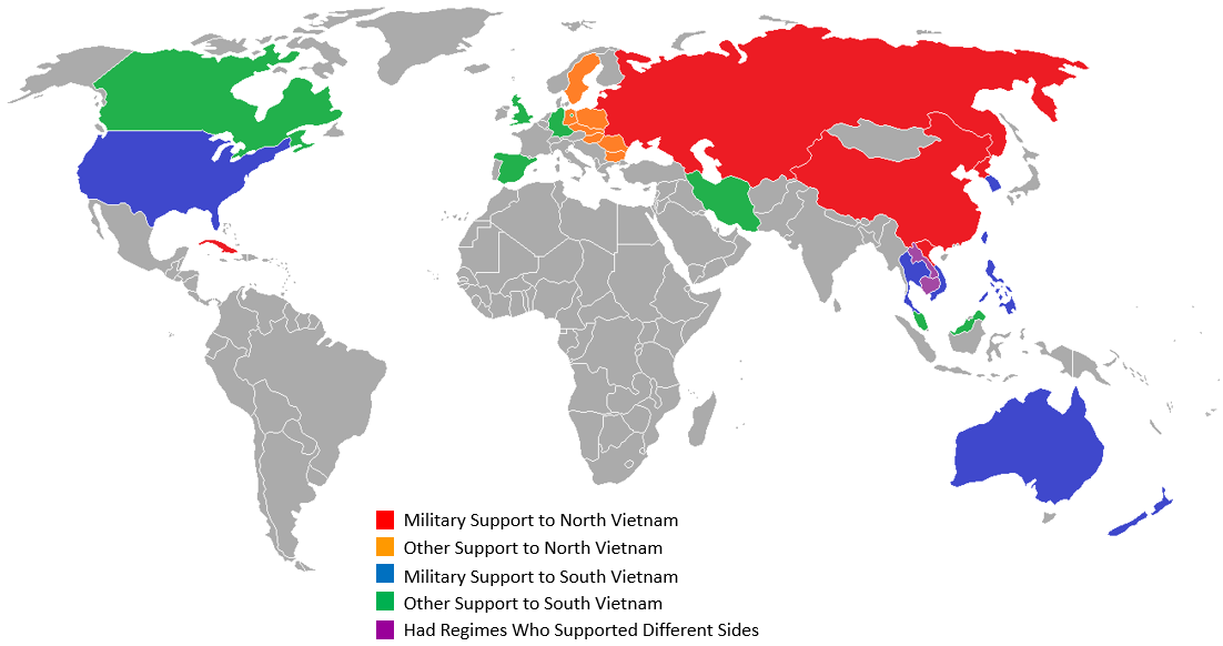 Countries Involved in the Vietnam War.   Maps   World, World ...