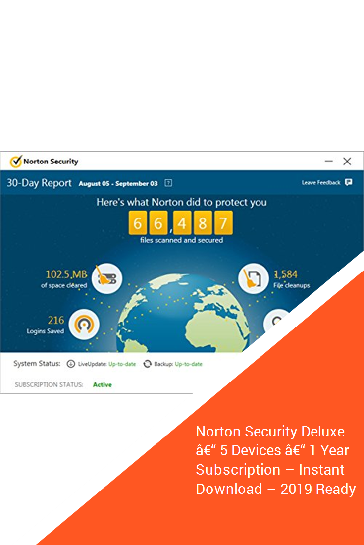 Norton Security Deluxe A 5 Devices A 1 Year Subscription Instant Download 2019 Ready With Images Norton Security Small Business Software Computer Security