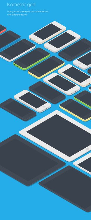 Free Flat Apple Devices Mockups