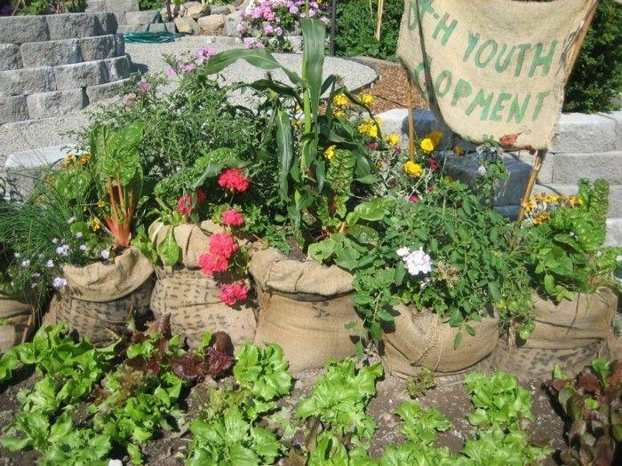 Gut Alte Sisalsäcke Upcycling Gartenideen Für Wenig Geld