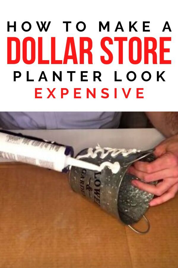Check out this idea for how to upgrade a dollar store planter and make it look more expensive. This quick and simple project will make your home decor look high end and is perfect if you're decorating on a budget. Great for adding to your living room shelves decor or entryway console. #hometalk