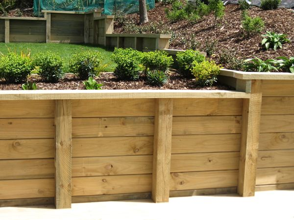 how to build a wood retaining wall wooden retaining walls