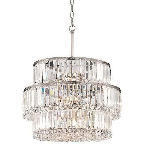 Magnificence 20 1 2 wide halogen light crystal chandelier chandeliers crystals and lights