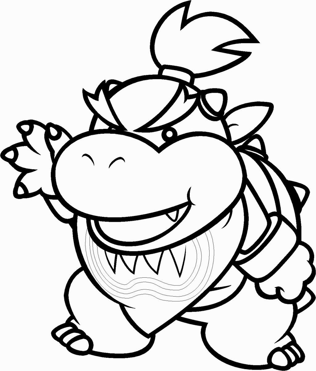Bowser Jr Coloring Pages Super Mario Coloring Pages Mario