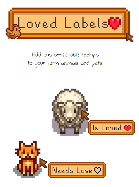 Loved Labels at Stardew Valley Nexus - Mods and community